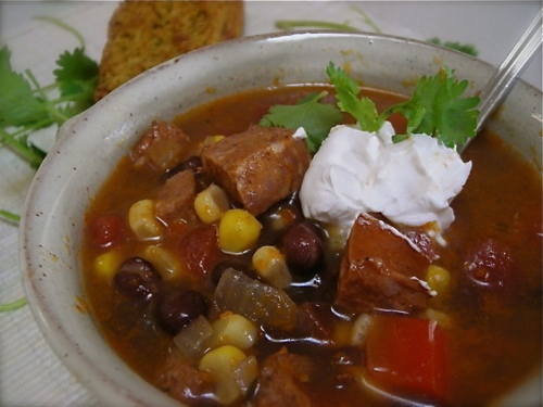chorizo and black bean soup6735