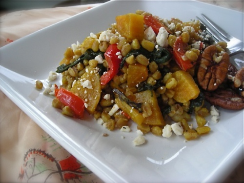 pilaf with farro and beets6919